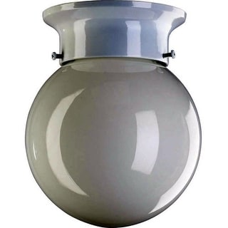 Quorum International Q3308-6 1 Light Flushmount Ceiling Fixture with Opal Frosted Glass Shade