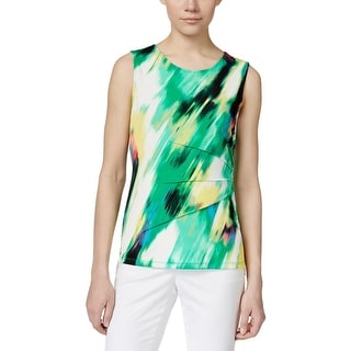 Calvin Klein Womens Blouse Side Zipper Sleeveless