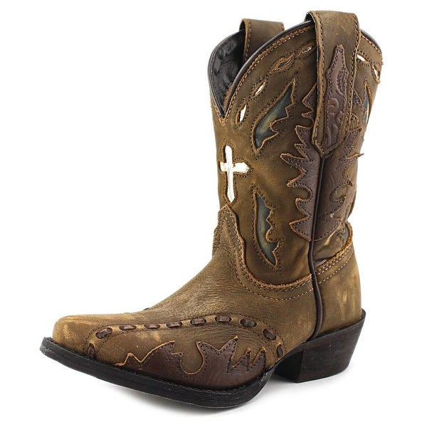 Dan Post Children's Vintage with Cross Snip Leather Western Boot