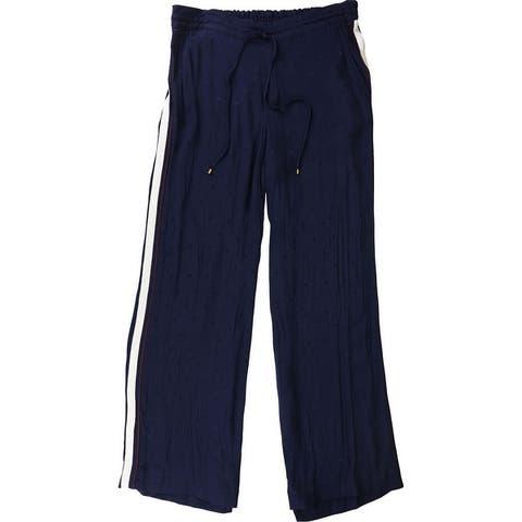 Ralph Lauren Womens Side Stripe Casual Wide Leg Pants