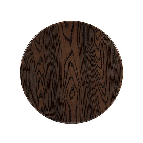 """Offex 24"""" Contemporary Round Rustic Wood Laminate Table Top"""