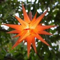 "Wintergreen Lighting 72715 Indoor / Outdoor LED Moravian Star with 60"" Lead"