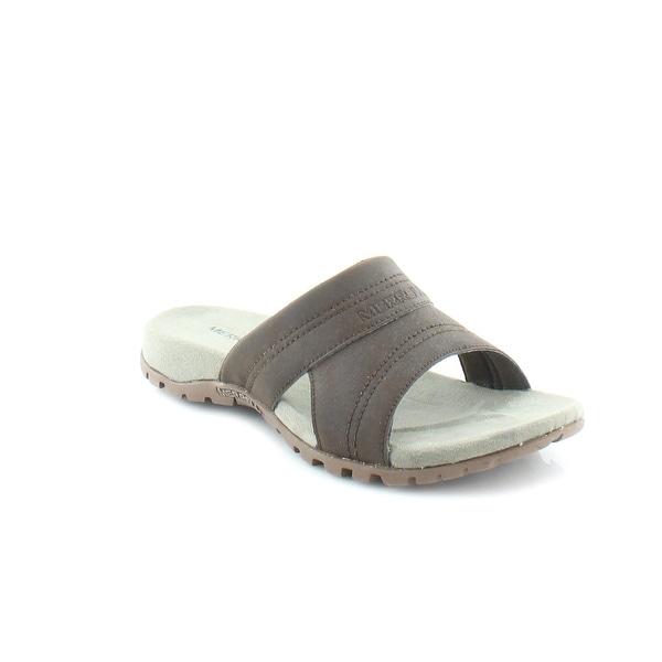 2891f3643acf Shop Merrell Sandspur Rift Slide Men s Sandals   Flip Flops Slate ...