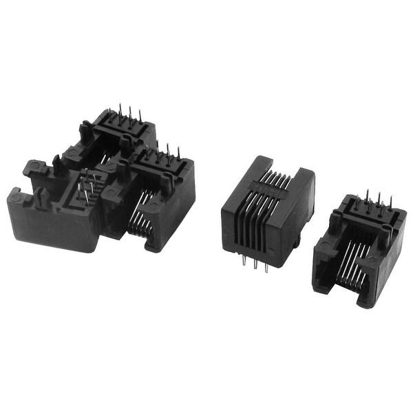 5 Pcs RJ11 6P6C 6Pin Modular Plug Telephone Network PCB Jacks Connector 18mm