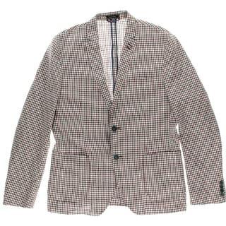 Argyle Culture Mens Linen Blende Checkered Sportcoat - L
