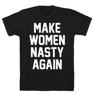 Make Women Nasty Again Black Men's Cotton Tee by LookHUMAN