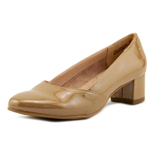 Aerosoles Launchpad Women Round Toe Patent Leather Nude Heels
