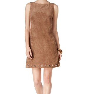 Jessica Howard NEW Brown Faux-Suede Women's Size 16 Shift Dress