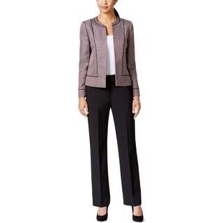 Tahari Womens Ronny Pant Suit Tweed 2PC