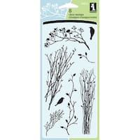 """Inkadinkado Clear Stamps 4""""X8""""-Delicate Branches"""