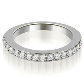 0.60 cttw. 14K White Gold Round Cut Diamond Wedding Band