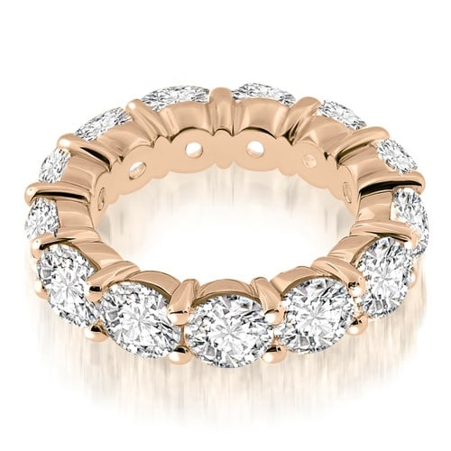 4.50 cttw. 14K Rose Gold Classic Round Cut Diamond Eternity Band Ring