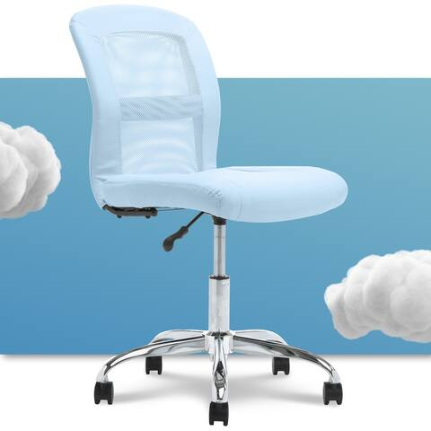 Serta Essentials Computer Chair, Blue Faux Leather