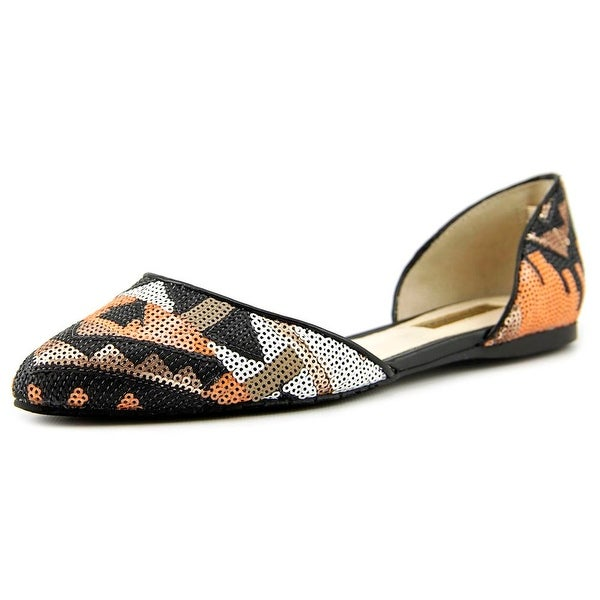 INC International Concepts Crescente 6 Pointed Toe Canvas Flats
