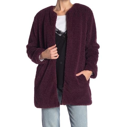 BB Dakota Women's Merril Faux Fur Open Jacket