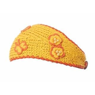 Greatlookz Playful Pansy Knit Winter Headband