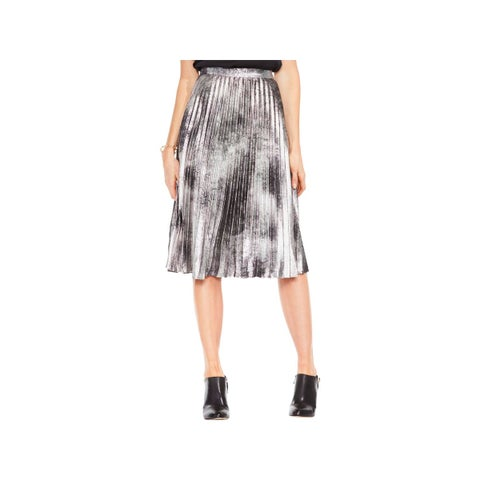 Vince Camuto Womens Pleated Skirt Coated Casaul