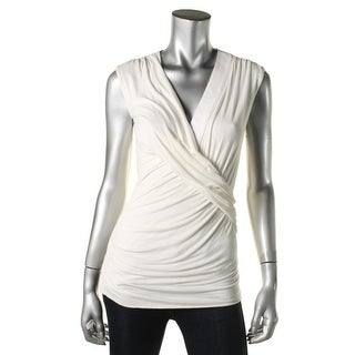 Bailey 44 Womens Sleeveless Gathered Pullover Top - S