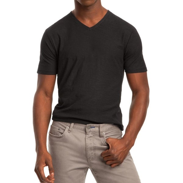 Kenneth Cole Reaction Mens T-Shirt Slub V-Neck
