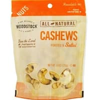 Woodstock Farms - Roasted Salted Whole Cashews ( 8 - 6 OZ)
