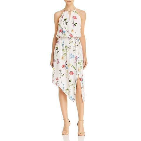 Parker Womens Herley Halter Dress Silk Floral Print - Gigi