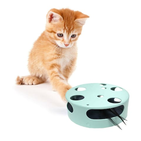 Interactive Cat Toy, Electric Smart Random Spinning Rotating Feather Cat Toys