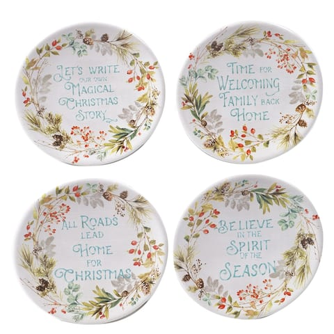 Certified International Christmas Story 6-inch Canape/Luncheon Plates (Set of 4)