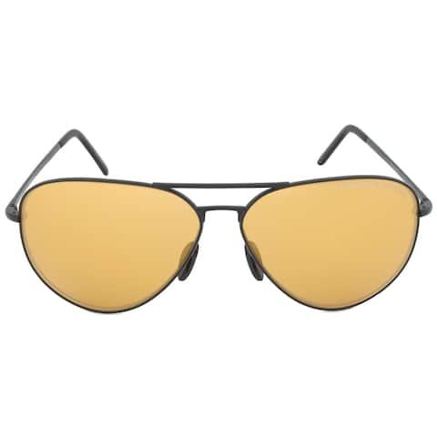 Porsche Design Design P8508I Aviator Sunglasses Black Frame Orange Mirrored Lens - 62mm x 12mm x 140mm