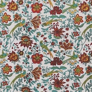 Handmade Birds of Paradise Tapestry Bedspread Coverlet 100% Cotton White Twin Full