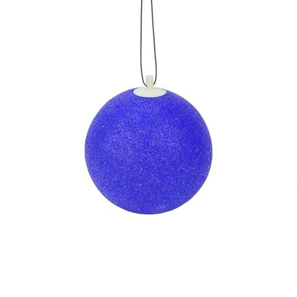 """7"""" Blue Lighted Twinkling Shimmering Sphere Patio Christmas Decoration"""