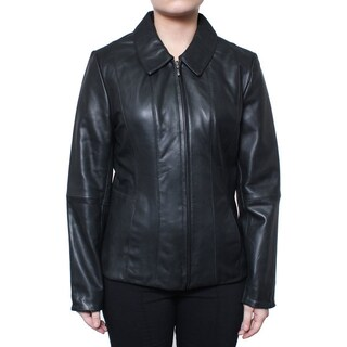 Donnybrook Women's Zip Front Genuine Leather Jacket (4 options available)
