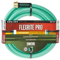 "Swan FXP58025 FlexRITE Pro Heavy Duty Water Hose, 5/8"" Dia x 25' L"