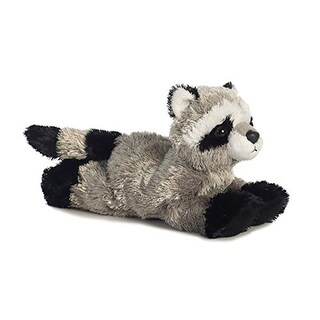 "Rascal Raccoon Mini Flopsie 8"" by Aurora - grey"