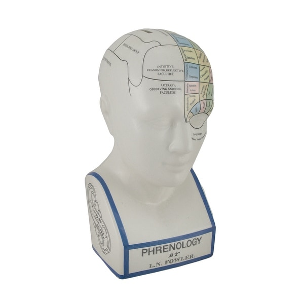 Large Phrenology Head with Color Trait Map Ceramic Coin Bank - 12 X 5.5 X 5.5 inches. Opens flyout.