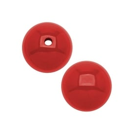 Smooth Acrylic Round Beads - Red - 12mm (24)