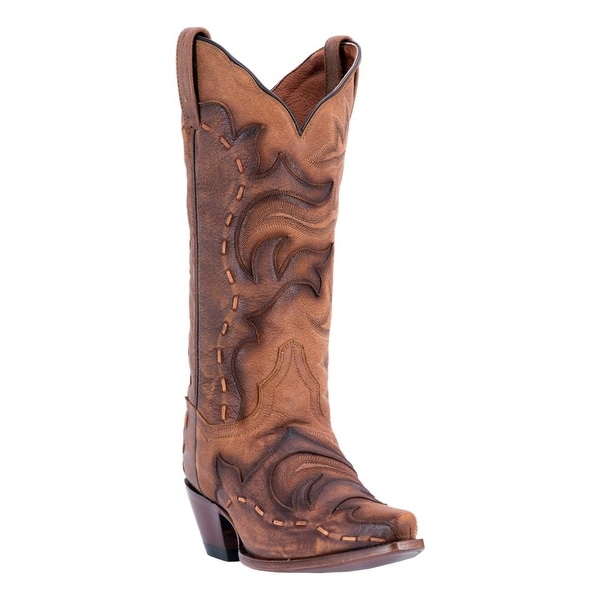 Dan Post Western Boots Womens Everlee Snip Toe Tan Brown