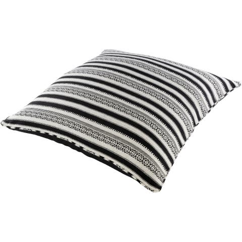 Madora Boho Striped 30-inch Floor Pillow