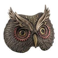 Steampunk Owl Head Wall Mask - Metallic Bronze