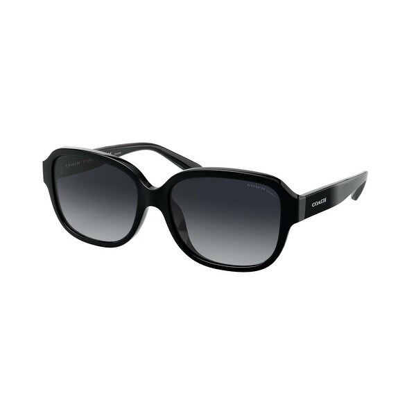 Coach HC8298U 5002T3 57 Black Woman Rectangle Sunglasses. Opens flyout.