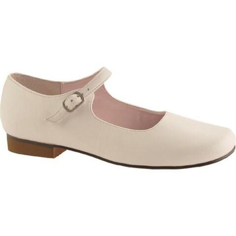 Nina Girls' Bonnett White Leather