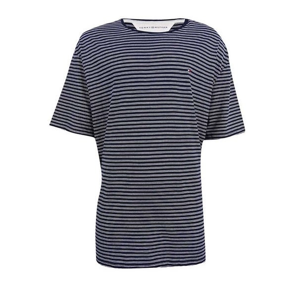 2ba5f5a80 Shop Tommy Hilfiger Men's Marvin Striped Contrast-Collar T-Shirt (3XL,  Navy) - navy - 3Xl - Free Shipping On Orders Over $45 - Overstock - 19218308