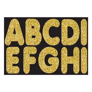 Gold Sparkle 2-3/4In Magnetic Letters