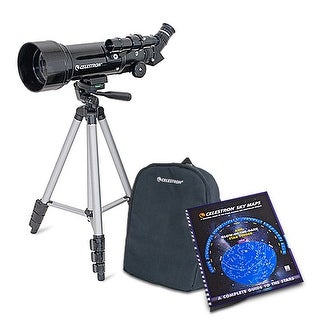 "Celestron Travel Scope 70mm 2.76 Inch 165x Portable Telescope With 2.76"" Aperture & Skymaps"