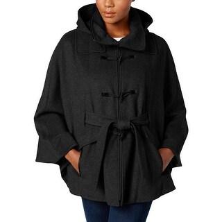 Calvin Klein Womens Cape Coat Hooded Cape - S/M