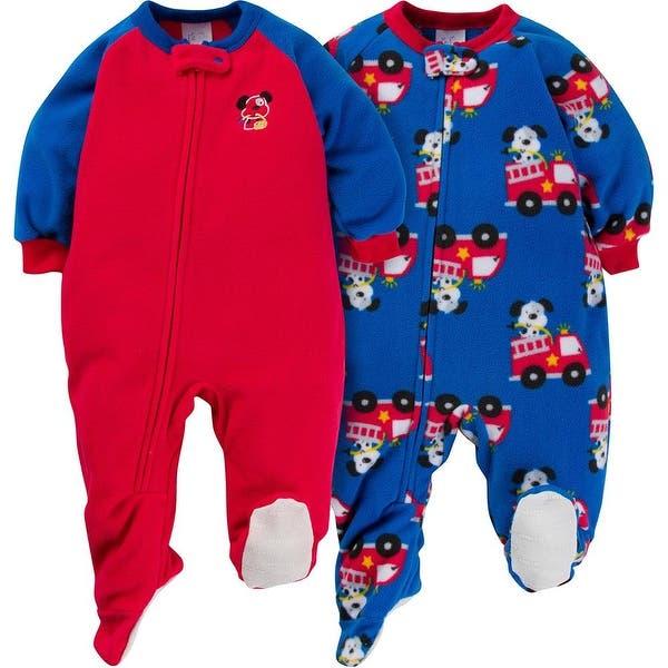 Gerber Baby Boy 2 Pack Blanket Sleeper, Firedog, 24 Months - Firedog -  Overstock - 28702587