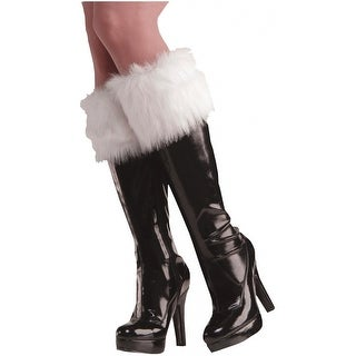 FURRY WHITE BOOT CUFFS Adult Costume Accessory