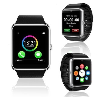 Indigi® GT8 Unlocked Universal SmartWatch & Phone - Bluetooth Sync w/ Built-in Camera + Pedometer + Sleep monitor + SIM Slot