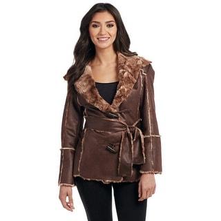 Cripple Creek Western Jacket Womens Toggle Faux Fur Hooded CR16170