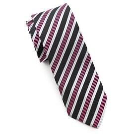 Men's Black and Purple Tie