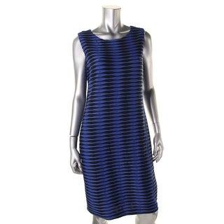 Calvin Klein Womens Textured Sheath Casual Dress